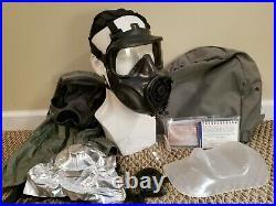 #1 AVON FM53 M53 Gas Mask Respirator Large Left Handed + VPU & Mic NBC M50 CBRN