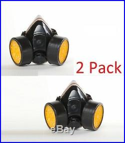 2 Pack Industrial Respirator Gas Safety Anti-Dust Chemical Paint Spray Mask