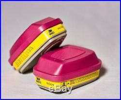 3M 60923 Organic Vapor/Acid Gas P100 Replacement Cartridges Various Quantities