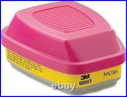 3M 60923 P1OO Organic Vapor/Acid Gas Replacement Respirator Cartridge, 5 Pack