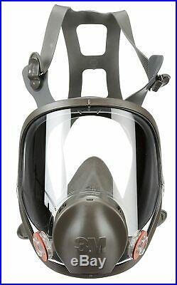 3M 6700 Full Face Respirator With1 PR 60926 P1OO Multi Gas/Vapor Cartridge SMALL