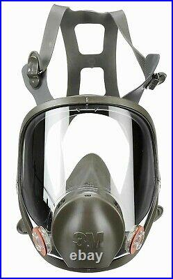 3M 6800 Full Face Respirator With1 PR 60923 P1OO Gas/Vapor Cartridge MEDIUM