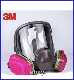 3M 6800 Full Face Respirator With1 PR 60926 P1OO Multi Gas/Vapor Cartridge MEDIUM