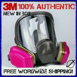 3M 6800 Full Facepiece Reusable Respirator + 60926 1 pair Gas Vapor Cartridges