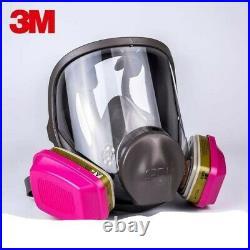 3M 6800 MEDIUM Full Face Respirator With 1 Pair 60926 Multi Gas/Vapor Cartridge/Fi