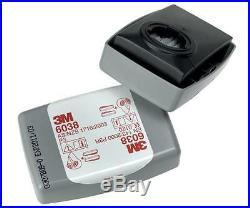 3M Cartridge Filter 6038 P3 R Particulate Dust Vapour Liquid Gas 10 Pairs