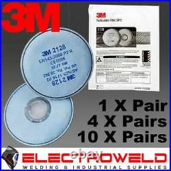 3m 2128 Gp2 P2 Filter Respirator Welding Grinding Paint Gas Smoke 6000 7000
