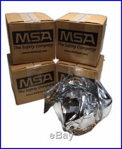 4 PACK NATO 40mm NBC BRN Gas Mask Respirator Filter, 2023 MSA 10046570 Cap 1