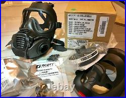 4 pack Scott FRR CBRN full face Gas mask Respirators with 8 filters 2028. LG or MD