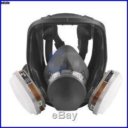 7 in 1 Full Gas Face Cover Respirator Spray Painting Filter Cartridge For 6800