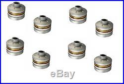 8 Stück Dräger Gasfilter A2B2E2K2Hg P3RD Kombi Filter Gewinde RD40 für Vollmaske