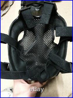AVON Dual Filter FM12 Respirator NBC Gas Mask Gasmask Police X2 Filters Size 3