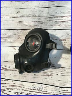 AVON FM12 CBRN/NBC Gas Mask/ withDrink Tube/ 1X Ports / Has Stickers /Sz Medium
