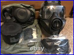 AVON FM53 M53 Gas Mask Size Small Right Hand With Hood & Filter