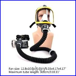 Adjustable Air Fed Full Face Gas Mask Constant Flow Respirator System Breathing