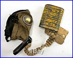 American WWI Military Issued CEM Respirator / Gas Mask WW1 US Doughboy Box SBR