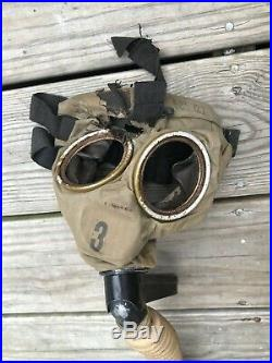 Antique WWI Gas Mask Small Box Respirator World War One Military