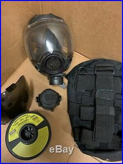 Authentic MSA Millennium CBRN 40mm Gas Mask Medium 10006231 and Accessories OEM