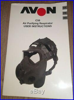 Avon C50 Gas Mask Full Face Respirator Air Purifying Respirator (Medium)
