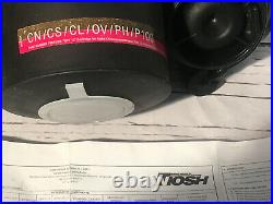 Avon FM12 Respirator Gas Mask & New Avon Mask Filter / Size 3 Small