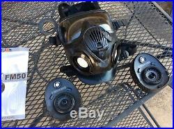 Avon FM50 Chemical Biological Respirator US Military NBC Gas Mask 71450/2 MED