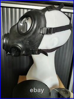 Avon Fm12 Respirator Gas Mask Size 2 New With Sealed Cbrn Filter