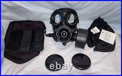 BLACKOUT S10 Gas Mask Size 2 Respirator + Flash Hood Black Outsert Lenses Fetish