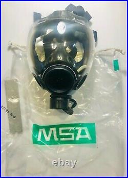 BRAND NEW MSA 10051287 MD Millennium Riot Control Gas Mask Medium Clear