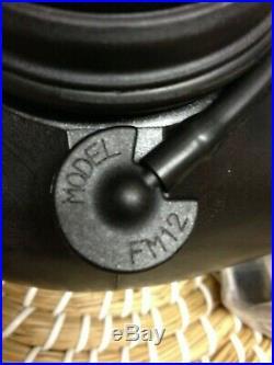 BRITISH Avon FM12 GAS MASK SIZE 2 TWIN FILTER respirator industrial fetish NBC