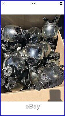 Black Lens 1 MSA Millennium CBRN Gas Mask Bag ESP II Amp Water Attch 5073