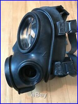 British Army Avon Exel. Condition 1992 S10 Gas Mask Size 4 Plus Filter Respirator