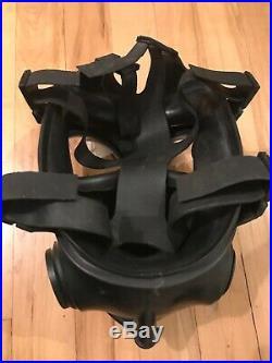British Army Avon Good Condition 1993 S10 Gas Mask Respirator Size 2 & Filter