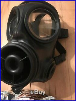 British Army Avon Good Condition 2006 S10 Gas Mask Respirator Size 2 and Filter