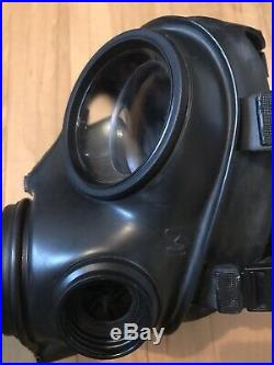 British Army Avon Good Condition 2007 S10 Gas Mask Respirator Size 3 and Filter