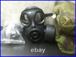 British Army Avon S10 Gas Mask NBC Respirator with Filters and Haversack