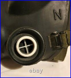 British Army S6 Respirator Gas Mask & Bag Falklands War SAS Iranian Embassy