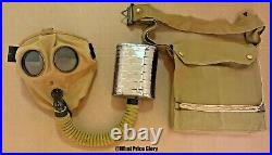 British Wwi & Wwii Sbr Respirator Gas Mask With Bag