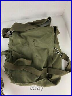 Canadian VTG WWI 1942 Mark IV Canvas Covered GI Box Respirator Gas Mask WW2