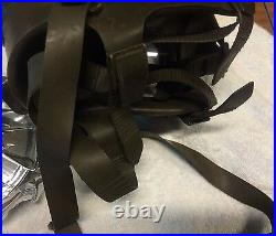 Drager Military Gas Mask Respirator Authentic German no filter PAINT SHOWS WEAR