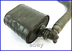 Dutch WWII 1937 Model G Gas Mask / Respirator + Filter / Carrier Bag VTG