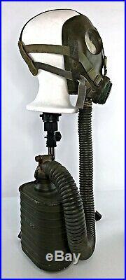 Dutch WWII 1938 Model G Gas Mask Respirator + Original Filter / Carrier Bag -VTG