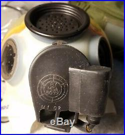 Early Clear MSA Gas Mask Respirator 1986 Med With Hood & Both Lens