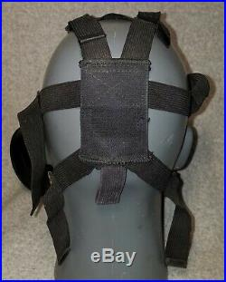Early Clear MSA Gas Mask Respirator 1986 Size Medium With Filter Hood Both Lens