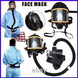 Electric Supplied Air Fed Full Face Gas Masks Constant Flow Respirator System US