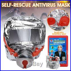 Filter Respiratory Protective Escape Hood Safety Self-rescue Anti-virus Gas Mask