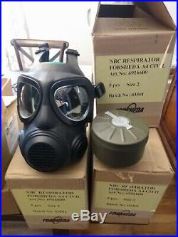 Forsheda A4 F2 Military Gas Mask, respirator gas mask with NBC filter, SIZE 2