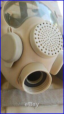 French / Polish Military MP5 ARFA Gas Mask 40mm Respirator Size 1
