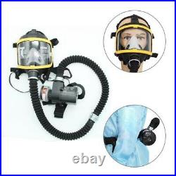 Full Face Gas Mask Electric Constant Flow Respirator Supplied Air Fed Full Set