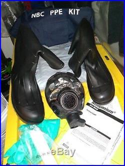 Gas MASK MSA Millennium PPE Kit CBRN MED Pro-Tech Servus 18801boots