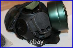 Gas Mask Full Face Respirator Size Large With Extras
